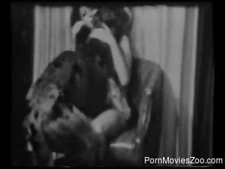 Classic nude scenes of zoophilia in vintage scenes along women