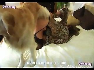 Blonde hottie works proper dog inches into her moist vagina