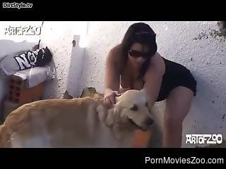 Busty lesbians are in for a wild zoo cam play along the dog