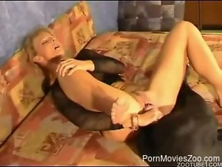 Strong dog zoo porn for a married woman with nice ass
