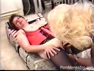 Retro porn video with sexy women and their kinky pets