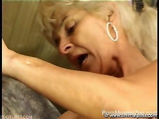 Big boobs granny finds the perfect stallion cock